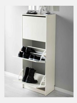 ikea model bissa three cabin shoes boxes 1 268x358 - جاکفشی سه کابین ایکیا مدل بیسا