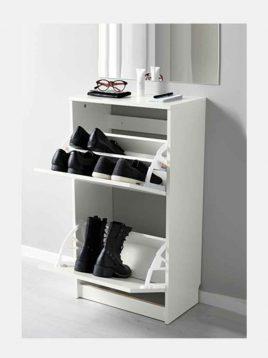 ikea model bissa two cabin shoes boxes 1 268x358 - جاکفشی دو کابین ایکیا مدل بیسا