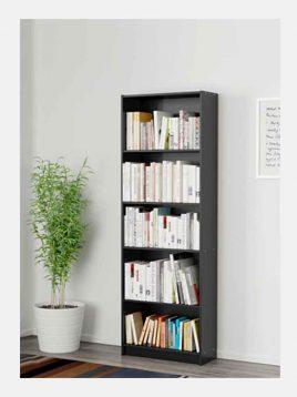 ikea model finnby five floors black etagere 1 268x358 - کتابخانه قفسه باز مشکی پنج طبقه ایکیا مدل فینبی