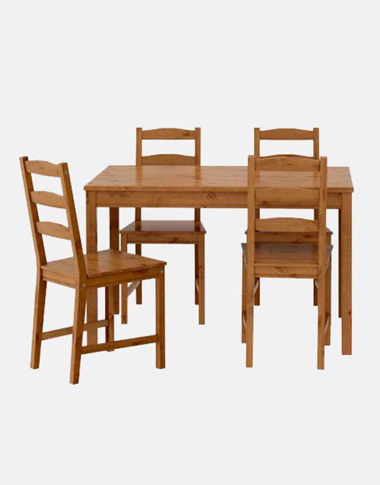 میز و صندلی چوب کاج ایکیا مدل جوکموک