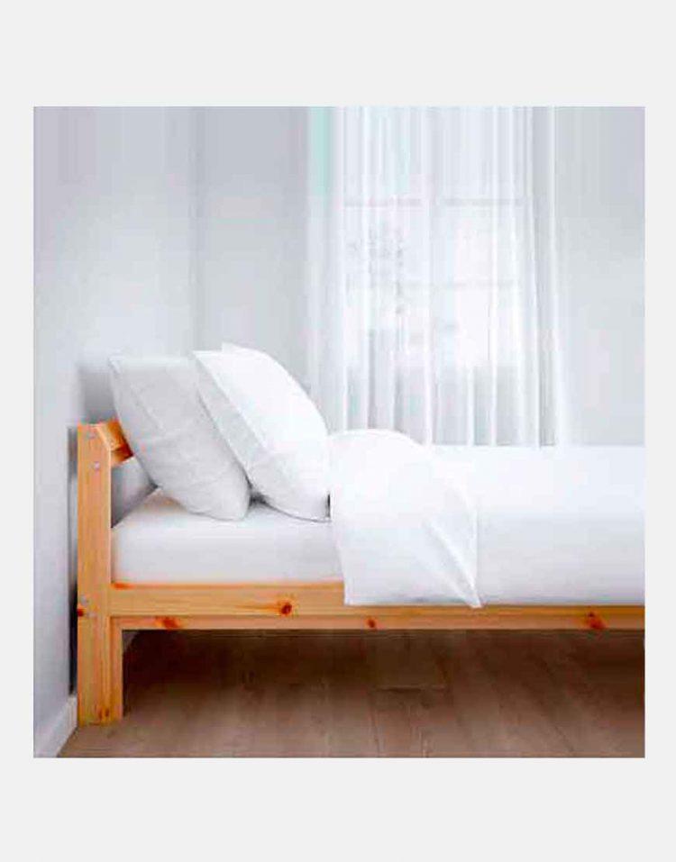 ikea model neiden wooden Simple bed 2 750x957 - تخت خواب ساده چوبی ایکیا مدل نیدن