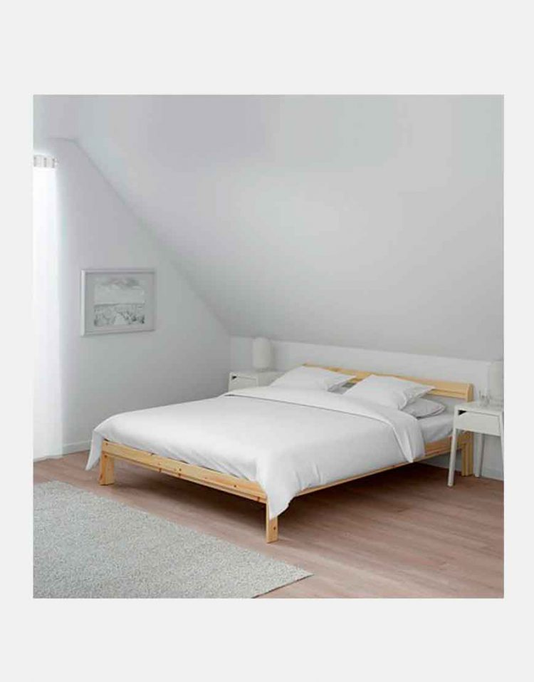 ikea model neiden wooden Simple bed 3 750x957 - تخت خواب ساده چوبی ایکیا مدل نیدن