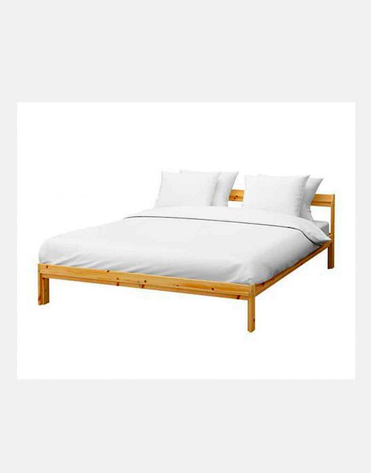 ikea model neiden wooden Simple bed 750x957 - تخت خواب ساده چوبی ایکیا مدل نیدن
