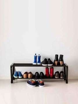 ikea model portis metal two floors Shoes boxes 1 268x358 - جاکفشی طرح ایکیا مدل پورتیس