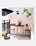 میز و صندلی چوبی فلزی ایکیا مدل تارنو