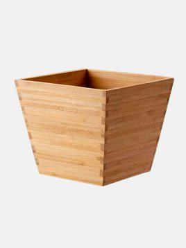 ikea model vildapel square bamboo vases 1 268x358 - گلدان بامبو مربع ایکیا مدل VILDAPEL