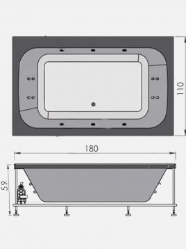 persianstandard Air Bathtubs Amur2 268x358 - جکوزی مدل آمور