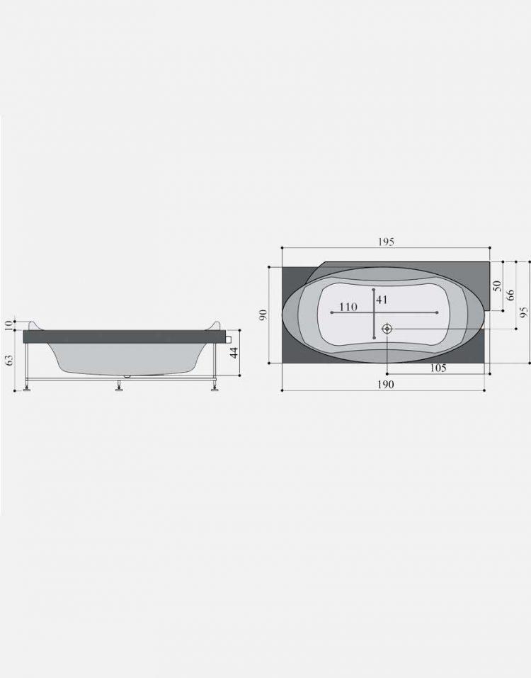 persianstandard Bathtub pershiya gushe3 750x957 - وان مدل پرشیا گوشه