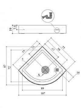 کف اتاقک دوش پرشین استاندارد مدل ملیسا