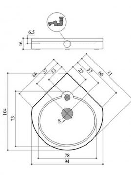 کف اتاقک دوش پرشین استاندارد مدل نیلا