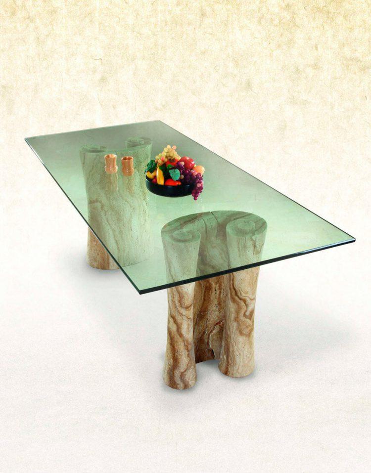 میز ناهار خوری پایه سنگی آژیانه کد یک