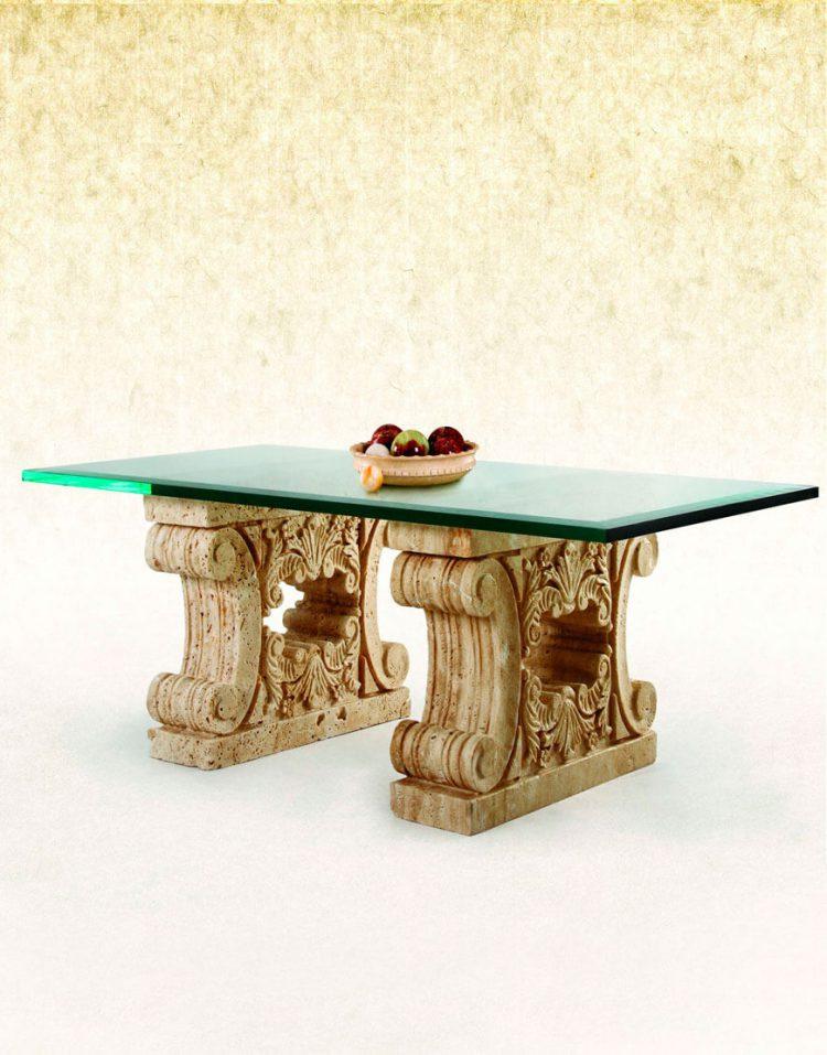 میز جلومبلی پایه سنگی آژیانه کد پانزده