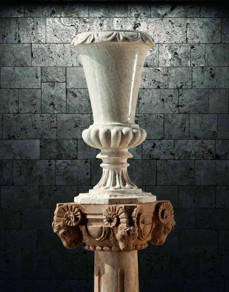 گلدان سنگی آژیانه کد دوازده