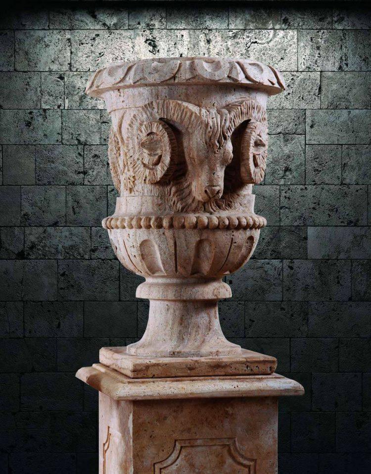 گلدان سنگی آژیانه کد سیزده