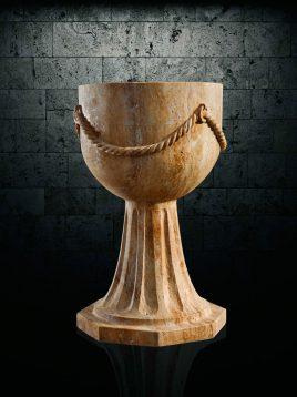 گلدان سنگی آژیانه کد شانزده