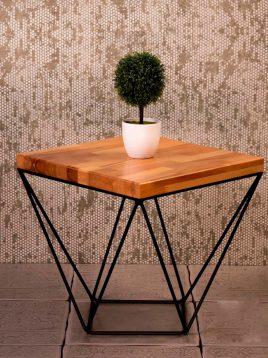 میز کنار مبلی چوب و فلز مدل w4545