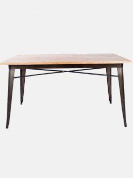 میز تولیکس مستطیل صفحه چوب وودوهوم