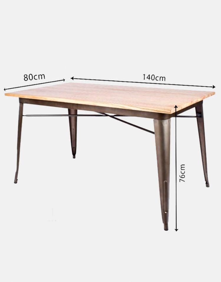 میز تولیکس مستطیل صفحه چوبی