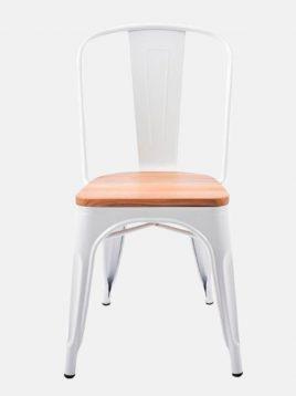 صندلی فلزی ناهارخوری کف چوبی