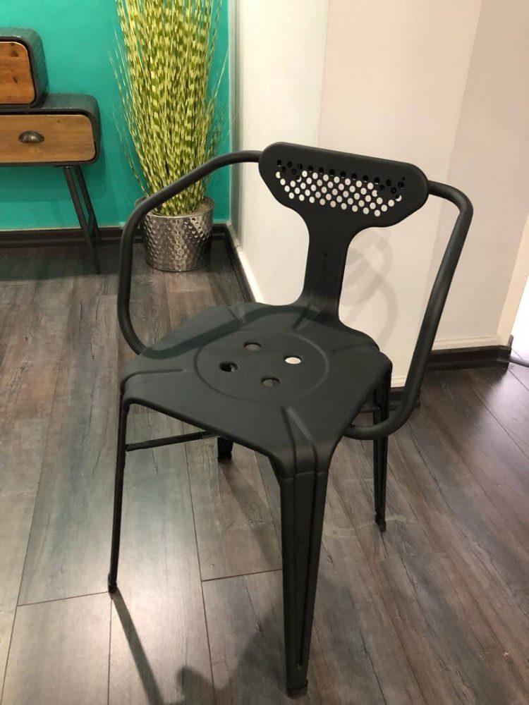 صندلی فلزی لوکس دسته دار