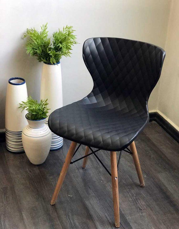 صندلی ناهارخوری پایه چوبی B