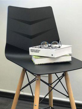 صندلی ناهارخوری پایه چوبی C
