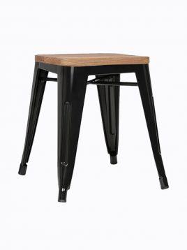 voodohome stool VS46w 2 268x358 - چهار پایه فلزی کف چوبی وودوهوم