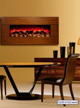شومینه دیواری برقی مدرن مدل چوبی e130