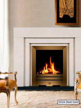 Freestanding-Electric-gas-fireplace-padideh-model-S024-steel-gold-1
