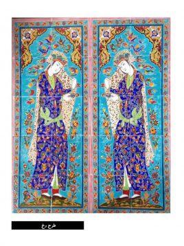 Handmade tile veneer pattern 268x358 - کاشی دست ساز طرح رخ لعاب دار