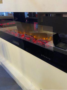 شومینه برقی هفت رنگ ریموت دار گرمایش دار