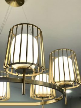 shaded Chandeliers voodoohome model VL2152 2 268x358 - لوستر مدرن وودوهوم مدل VL 2152