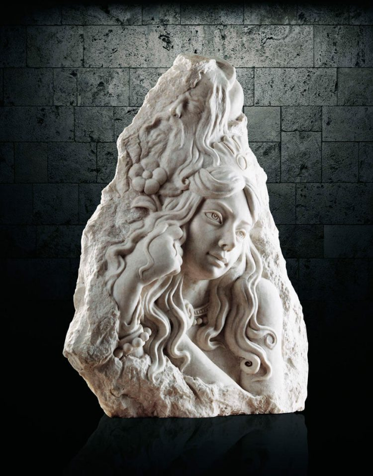 مجسمه سنگی آژیانه مدل st203