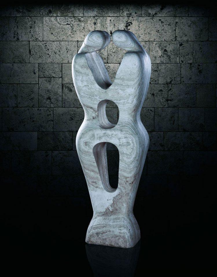 مجسمه سنگی آژیانه مدل st219