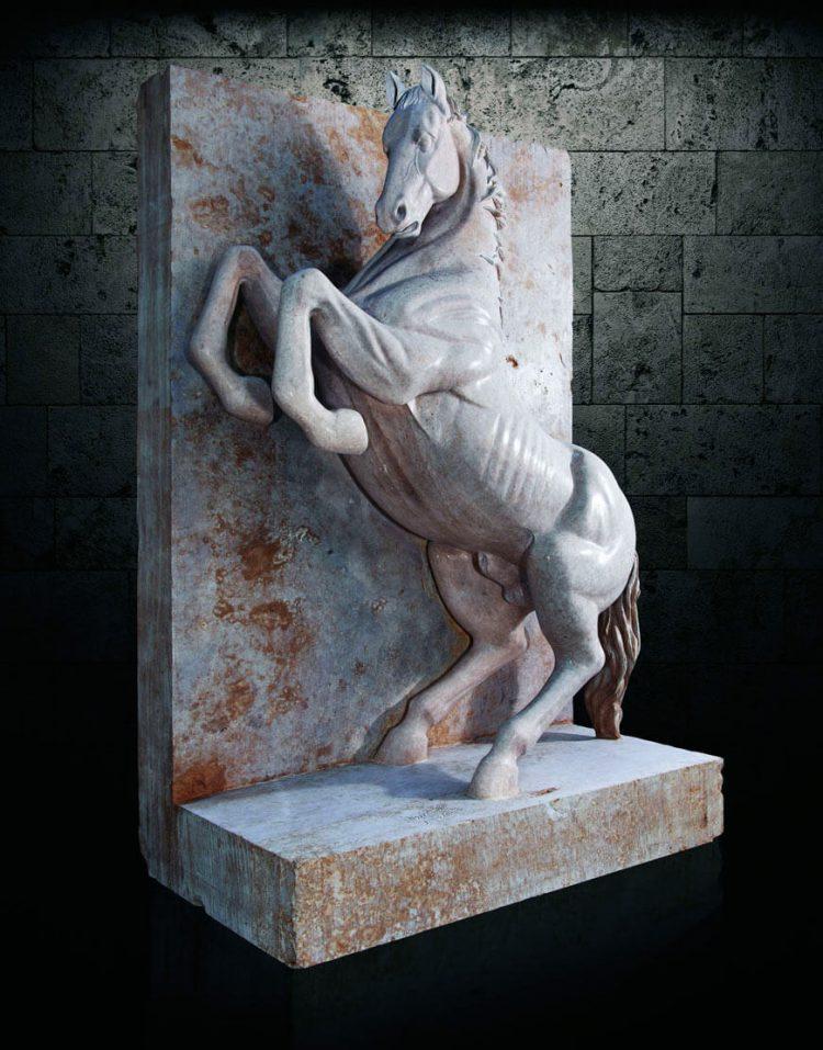 مجسمه سنگی آژیانه مدل st227