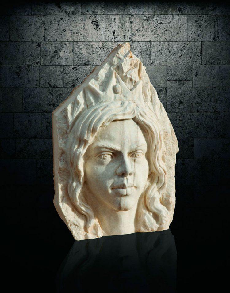 مجسمه سنگی آژیانه مدل st232