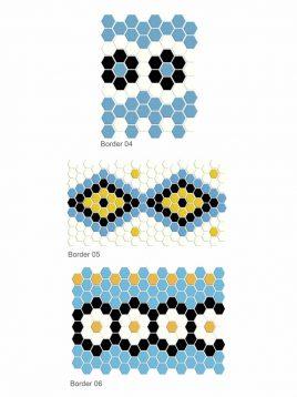 Alborz Miniature mosaic design border 2 268x358 - کاشی موزاییک مینیاتوری البرز طرح حاشیه