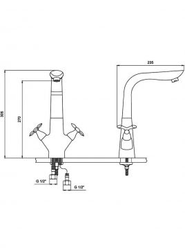 Derakhshan Bar Faucets Antik Model2 268x358 - شیرآشپزخانه درخشان مدل آنتیک