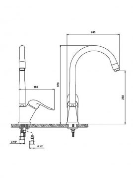 Derakhshan Bar Faucets Ava Model2 268x358 - شیر آشپزخانه درخشان مدل آوا