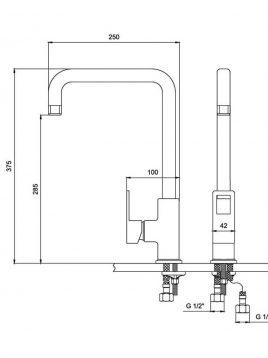 Derakhshan Bar Faucets Jazire Model2 268x358 - شیرآشپزخانه درخشان مدل جزیره