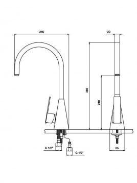 Derakhshan Bar Faucets Nadia Model2 268x358 - شیرآشپزخانه درخشان مدل نادیا
