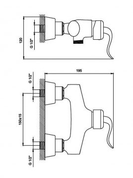 Derakhshan Bathroom Faucet Arch Model2 268x358 - شیرسرویس بهداشتی درخشان مدل آرک