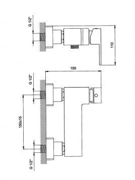Derakhshan Bathroom Faucet Jazire Model2 268x358 - شیرآلات درخشان مدل جزیره