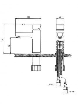 Derakhshan Centerset Bathroom Sink Faucets Jazire Model2 268x358 - شیر روشویی درخشان مدل جزیره