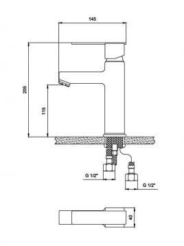 Derakhshan Centerset Bathroom Sink Faucets Nadia Model2 268x358 - شیر روشویی درخشان مدل نادیا