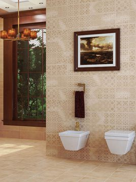 Tabriz caramic tile Minetto Beige 2 268x358 - کاشی تبریز مدل مینتو بژ