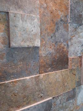 stone travertine antique model three 2 268x358 - سنگ آنتیک تراورتن طرح پازل چرمی دودی طلایی