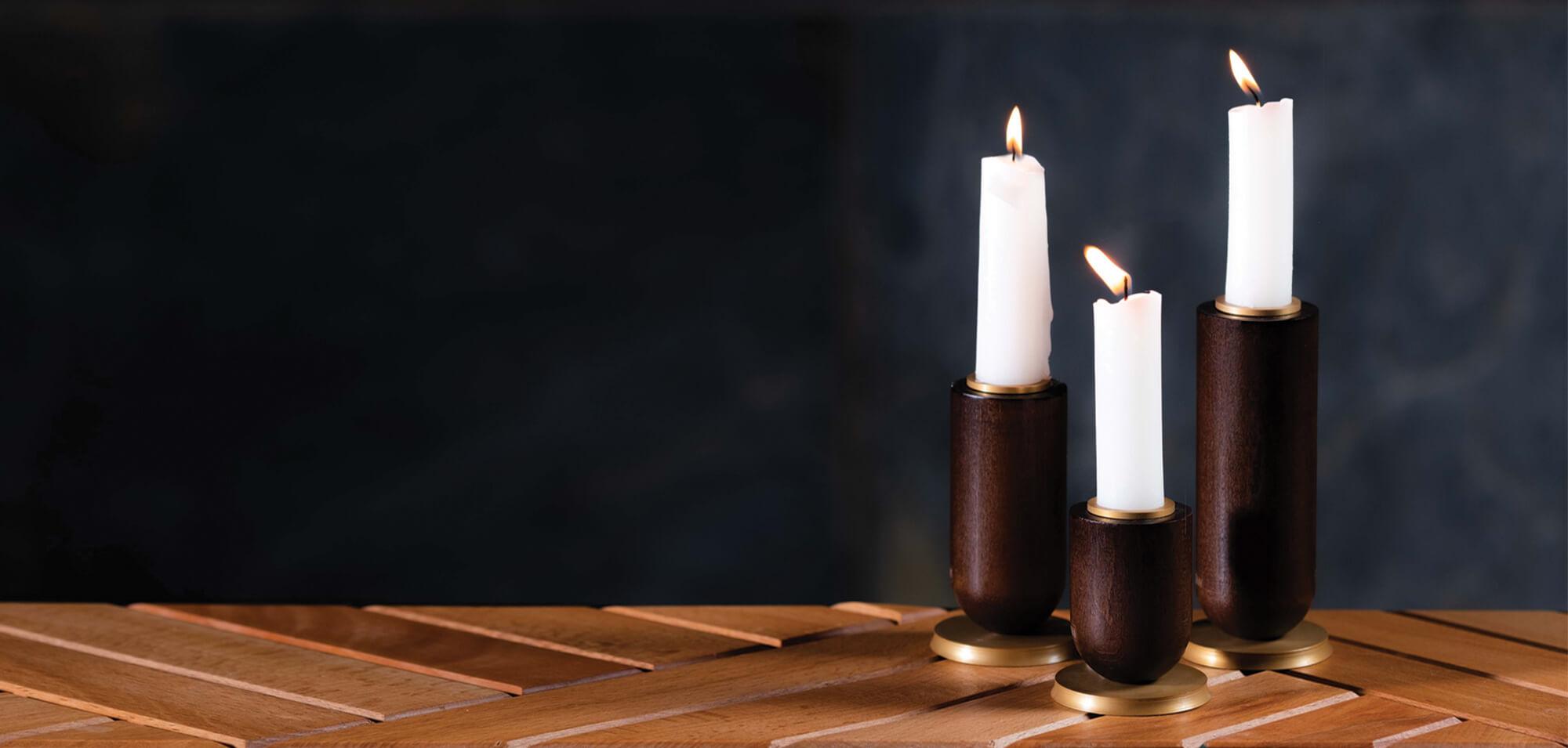 sunhome Candlestick model W3051 2 - جاشمعی چوبی مدل W3051