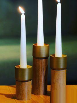 جاشمعی چوبی استوانه ای مدل W4031
