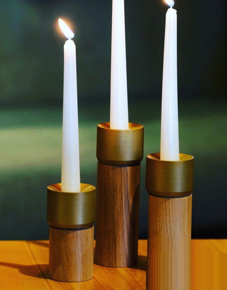 sunhome Candlestick model W4031 1 750x957 - جاشمعی چوبی استوانه ای مدل W4031